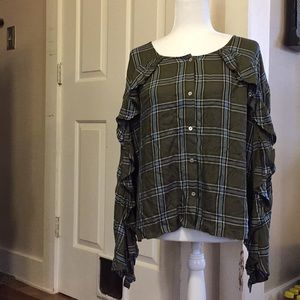 Tinseltown long sleeve blouse NWT size L